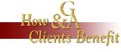 How Gordon and Associates clients benefit.